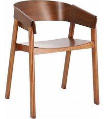 krzesło ecrou dębowe z podłokietnikami