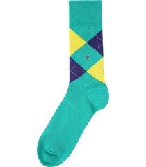 burlington socks king green & yellow 21020-7774