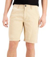 "inc men's roggen flat-front 10"" shorts, created for macy's"