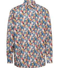 classic fit business casual poplin shirt overhemd business multi/patroon eton