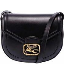 etro pegaso leather shoulder bag