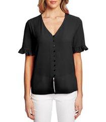 women's cece ruffle sleeve crepe blouse