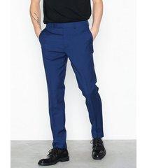 topman c:ff navy suit trousers byxor navy blue