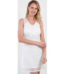 vestido de encaje lola blanco night concept