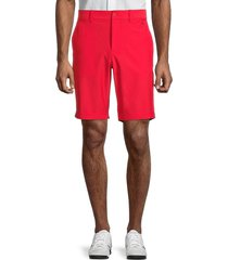 j. lindeberg men's eddy classic fit golf shorts - red bell - size 30