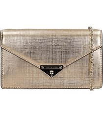 michael kors clutch in gold leather