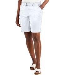 karen scott belted pocket shorts, created for macy's
