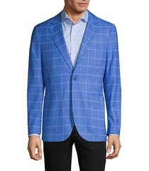 standard-fit windowpane jacket