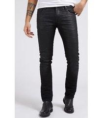denimowe powlekane spodnie fason skinny