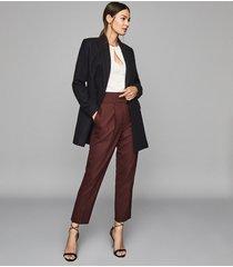 reiss dana - double-breasted short wool coat in navy, womens, size 10