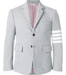 thom browne 4-bar jersey sport coat - grey