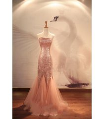 us8 best selling custom made sequins prom dresses champagne mermaid evening gown