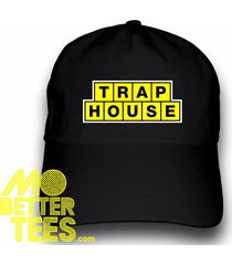 trap house dad hat logo style baseball cap custom printed