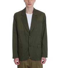 acne studios jace blazer in green nylon
