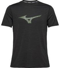 core graphic rb tee t-shirts short-sleeved svart mizuno