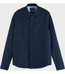 scotch & soda klassiek oxford overhemd | regular fit