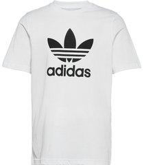 adicolor classics trefoil tee t-shirts short-sleeved vit adidas originals