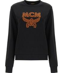 mcm sweatshirt with logo embroidery