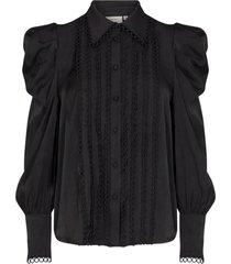 blouse met pofmouwen ultra  zwart