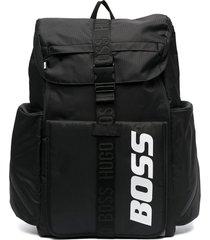 boss kidswear multi-pocket backpack - black