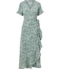 maxiklänning vmsaga 2/4 wrap frill ankle dress