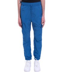 c.p. company pants in blue synthetic fibers