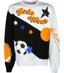 gcds regular printed sweatshirt