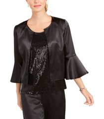 28th & park satin jacket & sequined tank top twinset, created for macy's