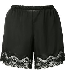 andrea bogosian sami lace trim shorts - black