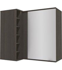 armário aéreo cozinha 98 cm nox 1 porta onix/steel - kappesberg