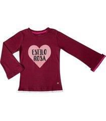 camiseta vinotinto estilo rosa nala