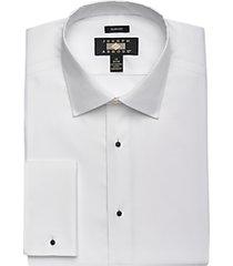 joseph abboud white slim fit tuxedo dress shirt