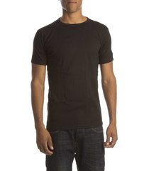 petrol t-shirt basic round neck black ( 4p)