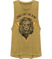 disney juniors' lion king long live the king scar festival muscle tank top