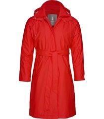 w trench coat regenkleding rood rains