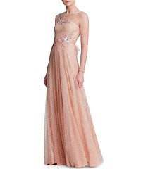 glitter tulle gown