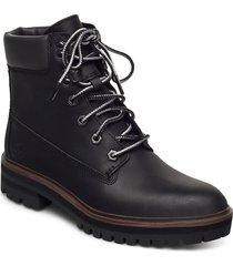 london sq 6in blk shoes boots ankle boots ankle boot - flat svart timberland