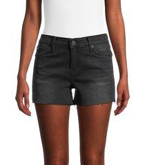 hudson women's gracie mid-rise cut-off denim shorts - black - size 29 (6-8)