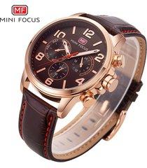 reloj para hombre/correa de piel/ mini focus / 0001g / reloj