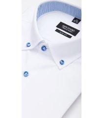 koszula bexley 1928 krótki rękaw slim fit biały