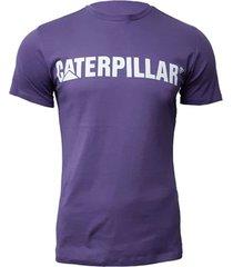 camiseta hombre slim fit caterpillar logo morado cat