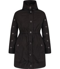 moncler black girl parka with iconic patch