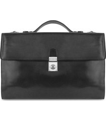 l.a.p.a. designer travel bags, men's black italian leather portfolio briefcase