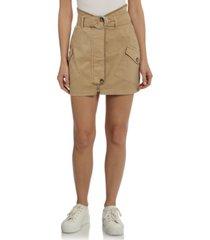 avec les filles belted utility mini skirt
