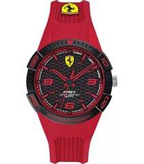 reloj ferrari modelo 840037 rojo hombre