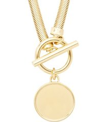 brook & york 14k gold plated izzy toggle necklace