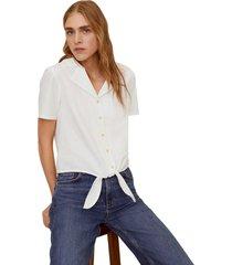 camisa blanco mng