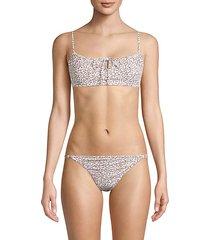 leopard-print bikini top