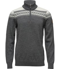 cortina merino masc sweater knitwear half zip jumpers grijs dale of norway