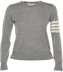 thom browne relaxed fit crew neck pullover